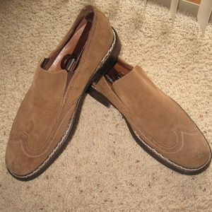 Hush Puppies Men's Suede Loafers - Brown - US 10M